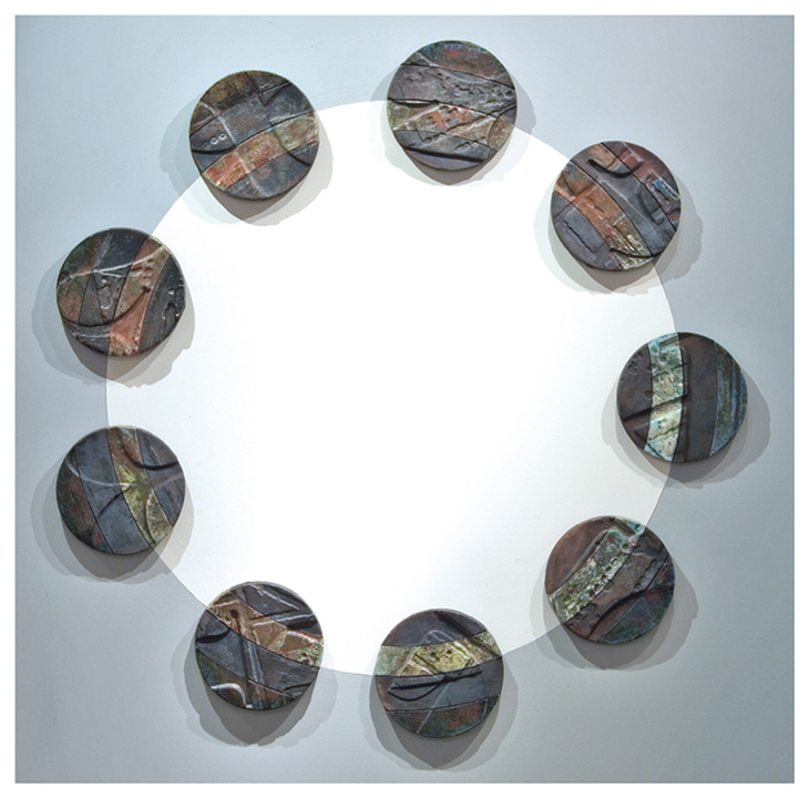 '9-MOONS-ECLIPSE'-RAKU,-WALL-ART-W&D-